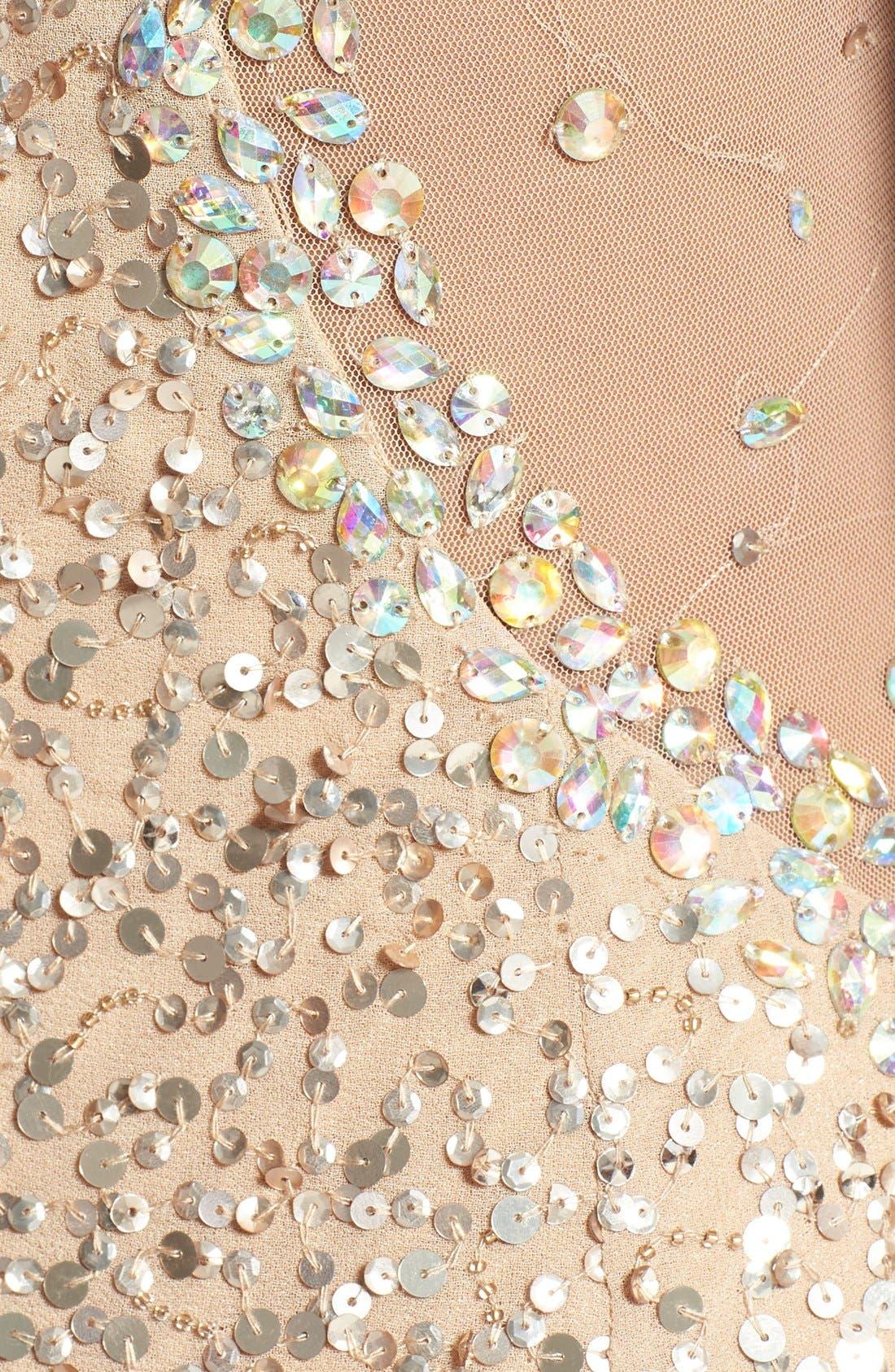 ,                             Embellished V-Neck Gown,                             Alternate thumbnail 3, color,                             220