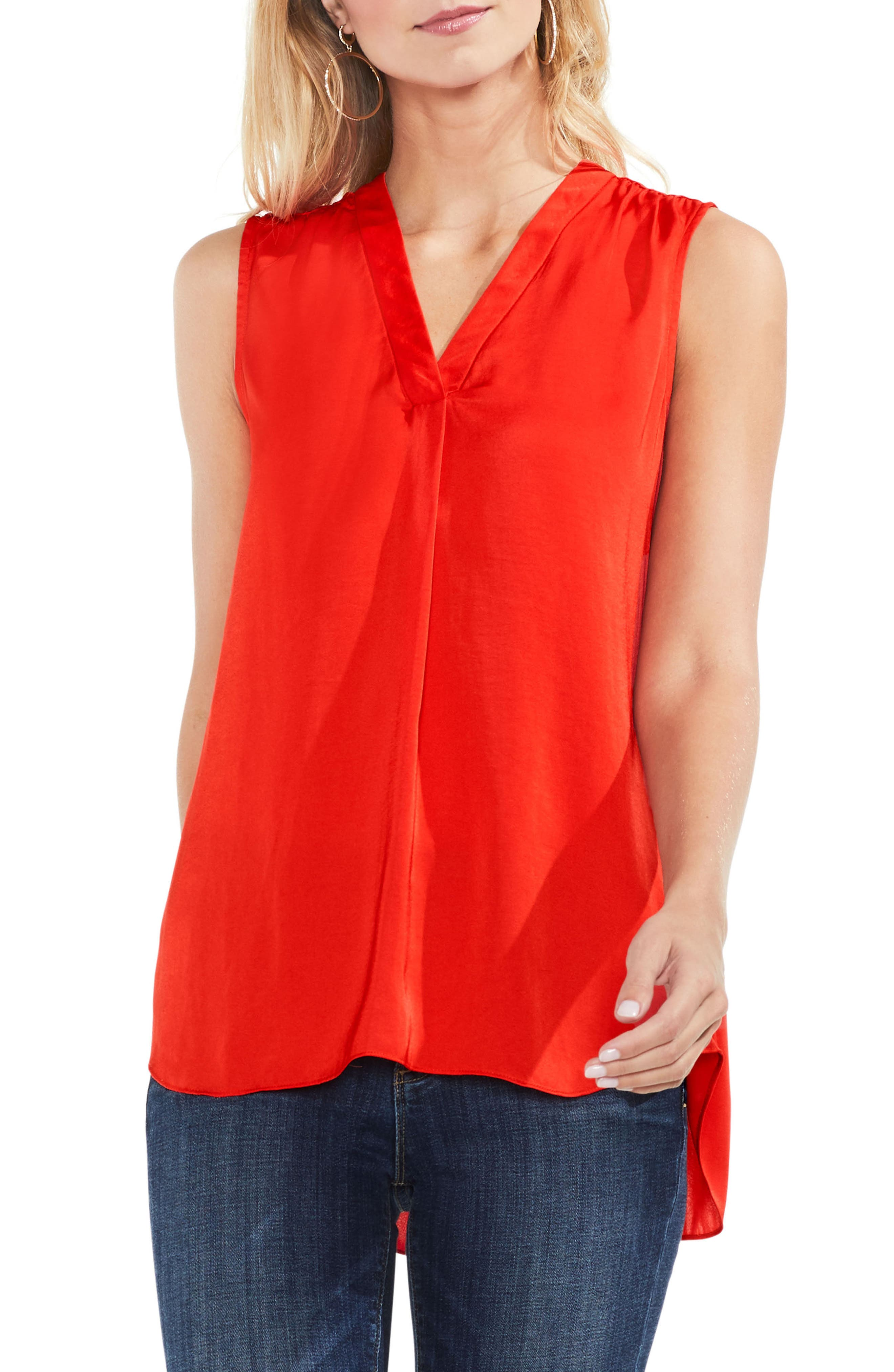 ,                             Rumpled Satin Blouse,                             Main thumbnail 216, color,                             626