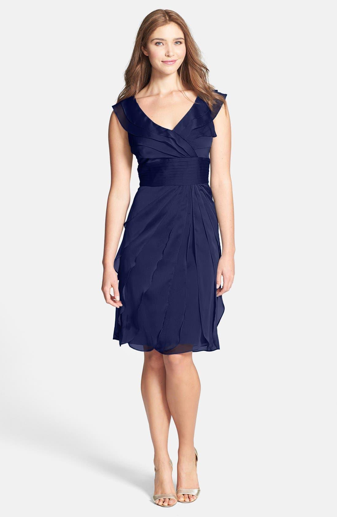 ,                             Tiered Chiffon Dress,                             Main thumbnail 9, color,                             401
