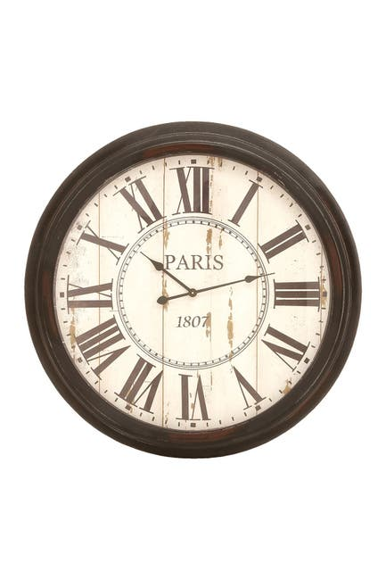 Image of Willow Row Paris Inspired Vintage Wall Clock