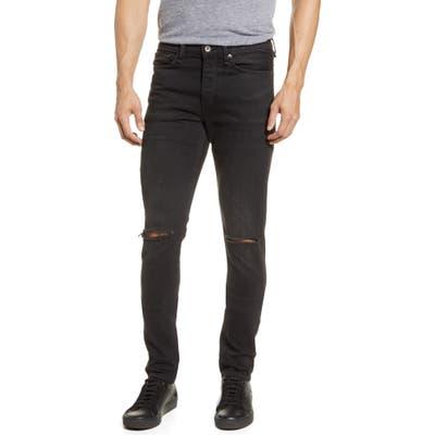 Rag & Bone Fit 1 Ripped Extra Slim Fit Jeans, Black