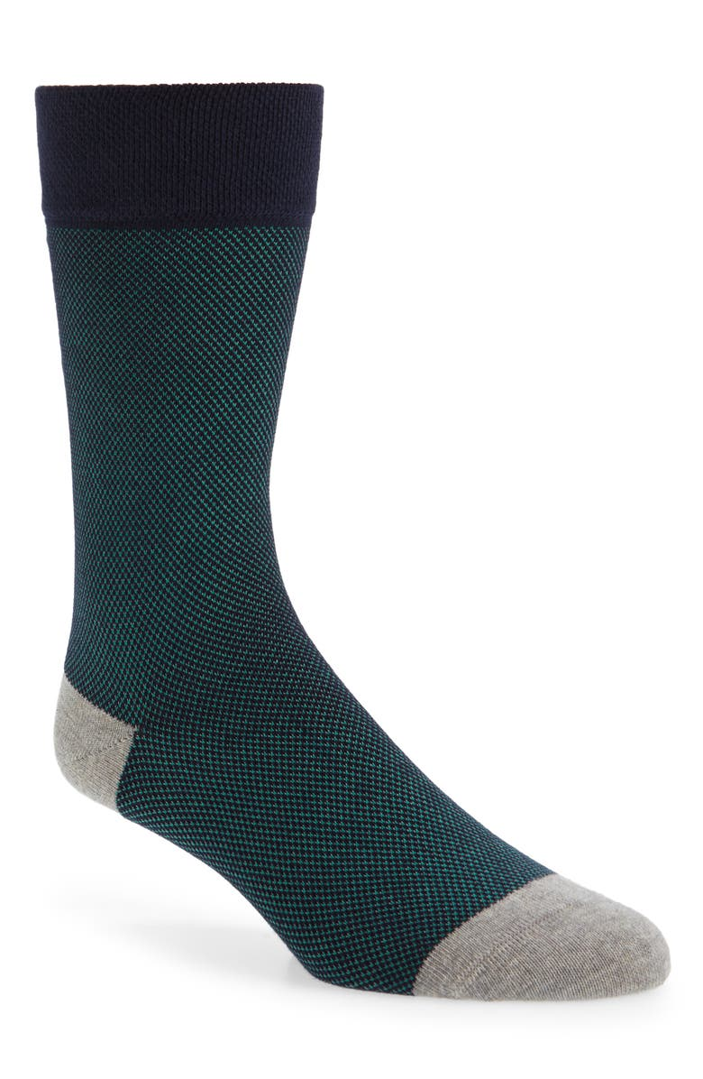 TED BAKER LONDON Textured Socks, Main, color, GREEN