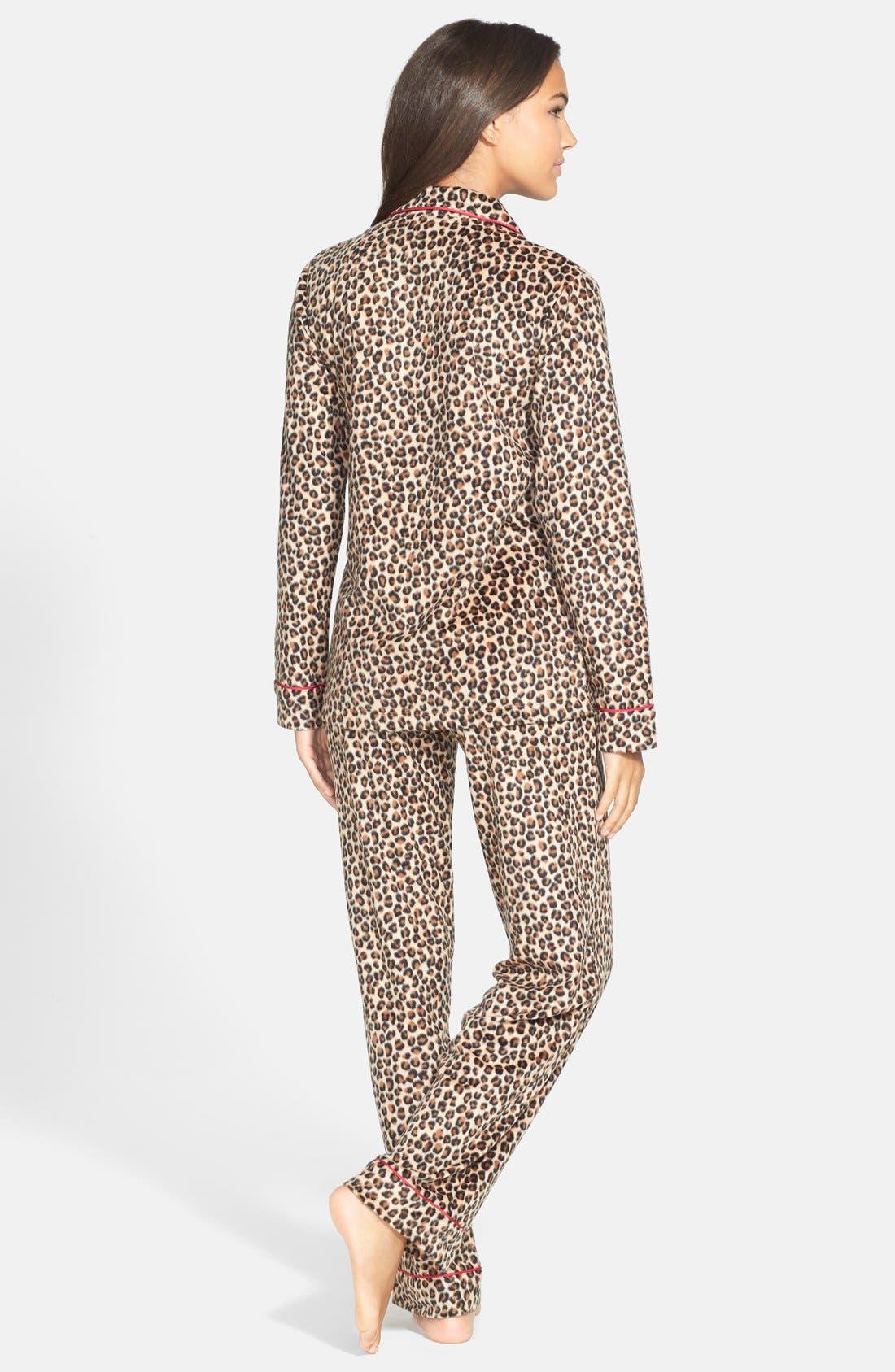 ,                             Long Sleeve Microfleece Pajamas,                             Alternate thumbnail 22, color,                             214