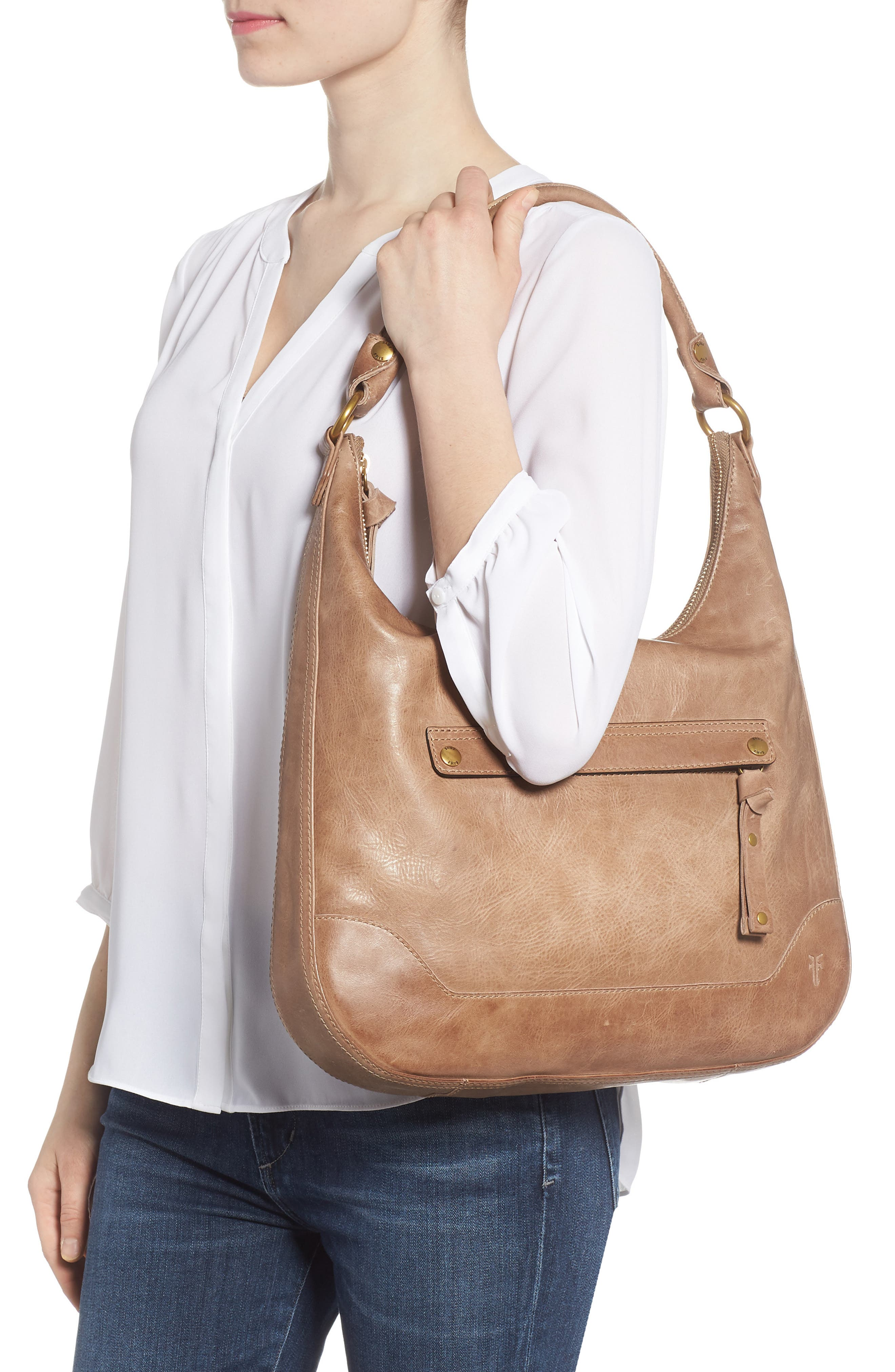 ,                             Melissa Large Leather Hobo,                             Alternate thumbnail 9, color,                             259