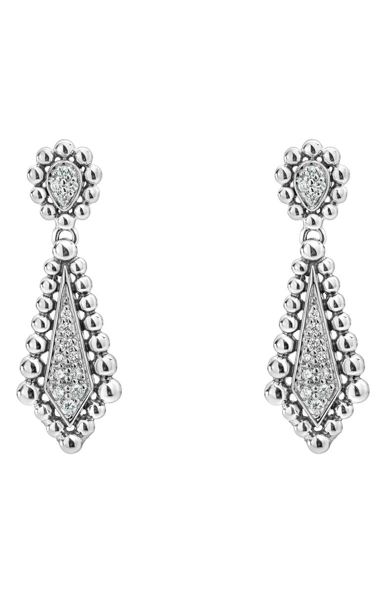 LAGOS Caviar Spark Diamond Earrings, Main, color, DIAMOND