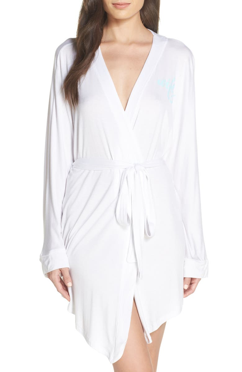 HONEYDEW INTIMATES All American Jersey Robe, Main, color, WHITE