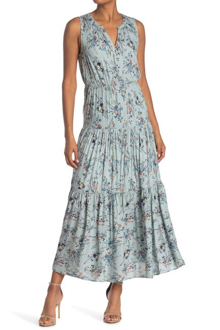 Image of DR2 by Daniel Rainn Floral Print Tiered Maxi Dress