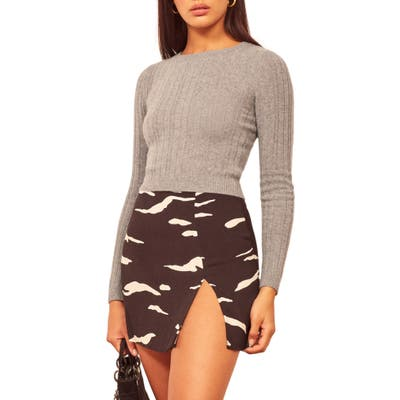 Reformation Cashmere & Wool Crop Sweater