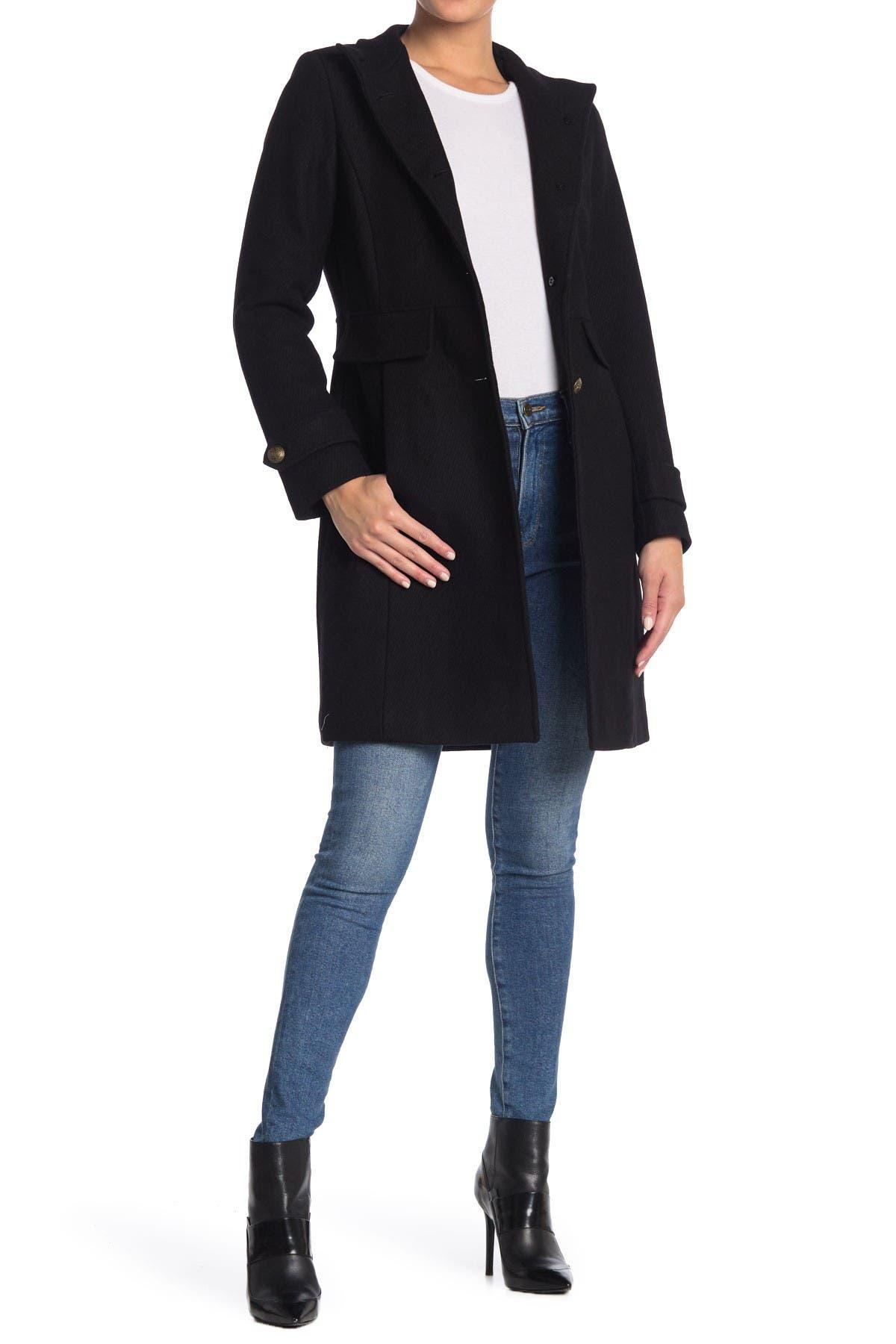 Lauren Ralph Lauren Wool Blend Military Coat
