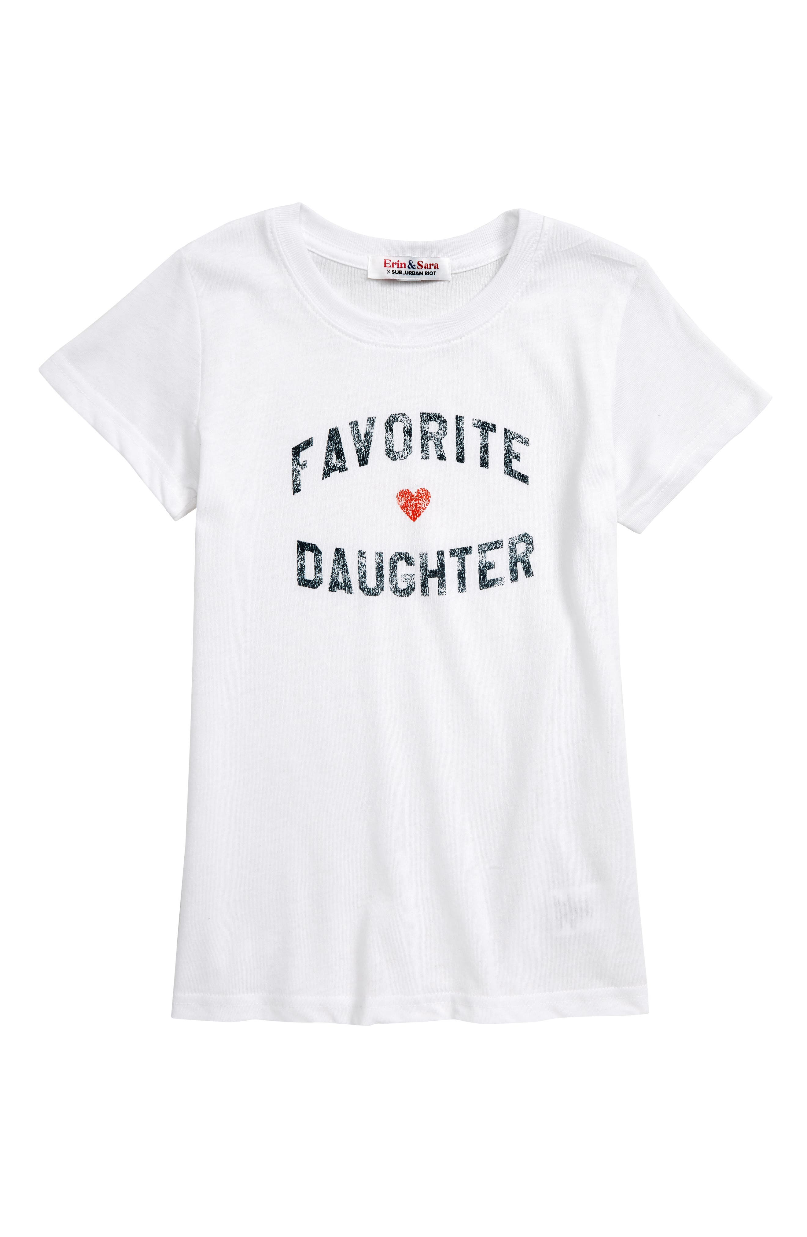 Favorite Daughter Graphic Tee, Main, color, WHITE