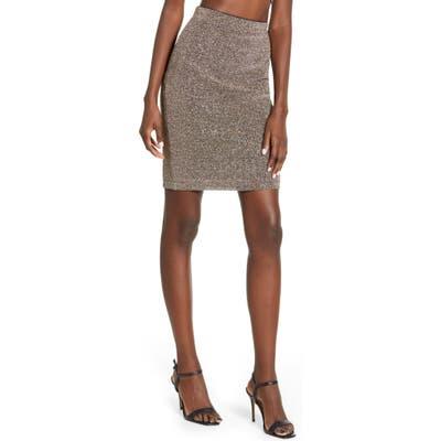 Leith Shine Miniskirt, Metallic