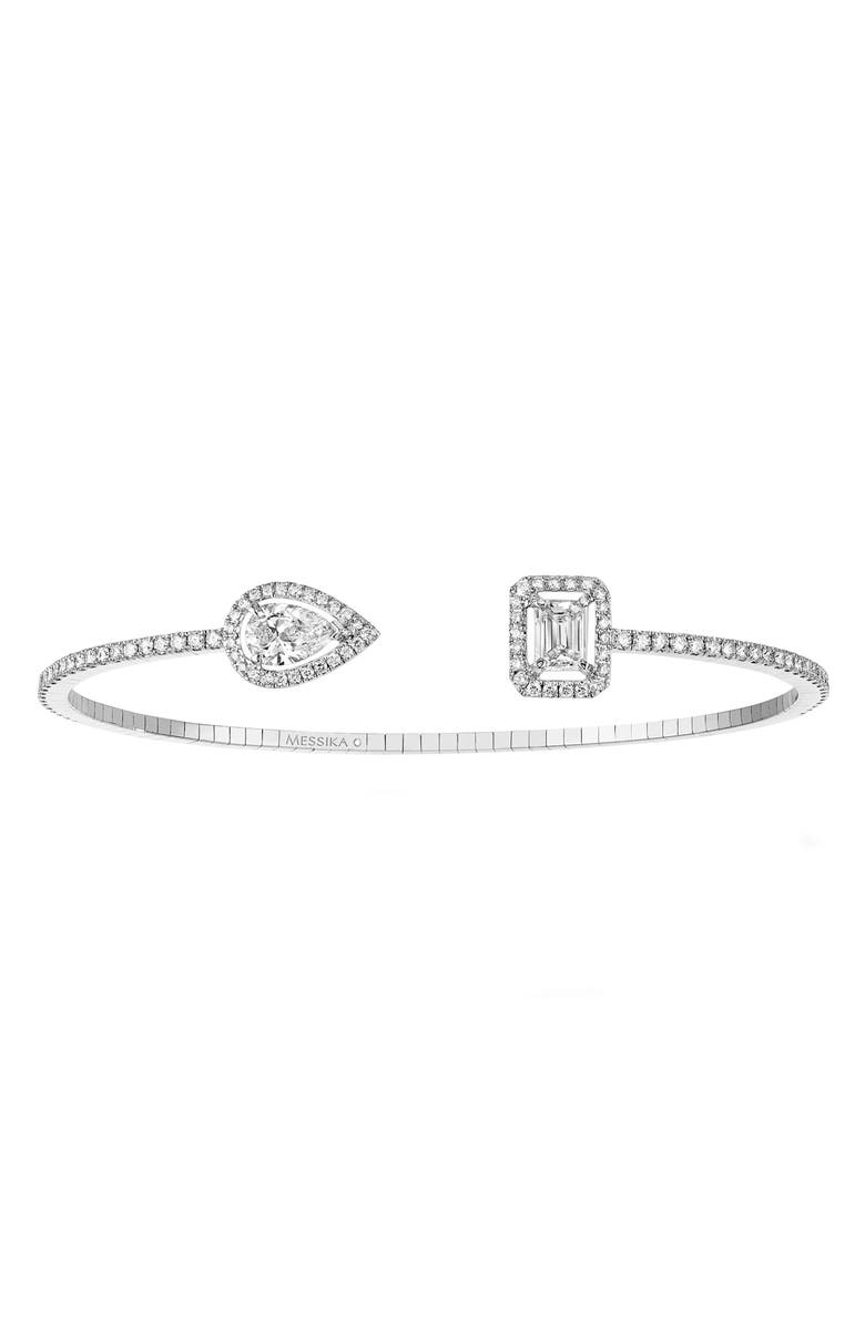 MESSIKA My Twin Open Diamond Cuff Bracelet, Main, color, WHITE GOLD