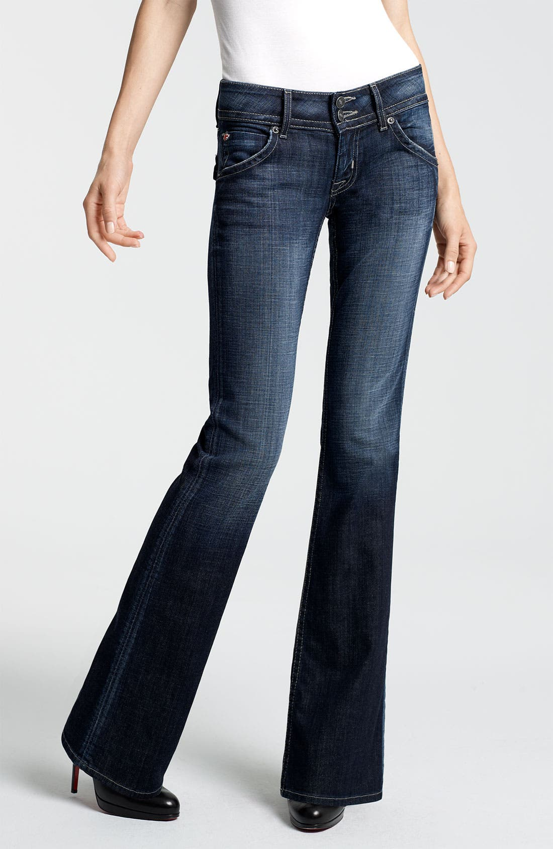 Signature Flap Pocket Bootcut Jeans, Main, color, 404