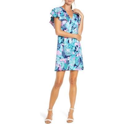 Lilly Pulitzer Kathie Flutter Sleeve Dress, Green