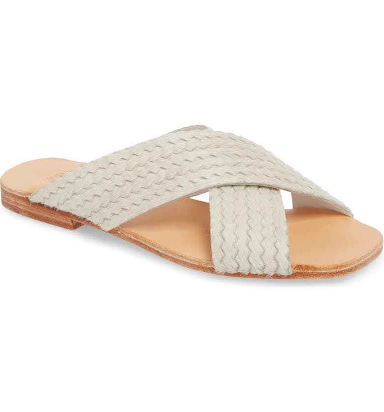 HUMA BLANCO Odessa Genuine Calf Hair Slide Sandal, Main, color, 110