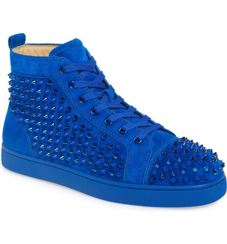 CHRISTIAN LOUBOUTIN Louis Spikes High Top Sneaker, Main, color, 463