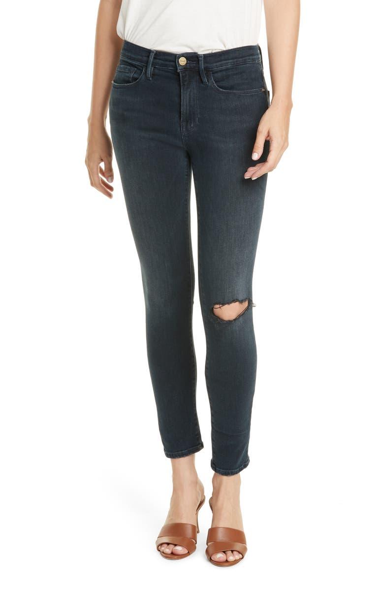 FRAME Le Skinny de Jeanne Jeans, Main, color, DYNAMITE