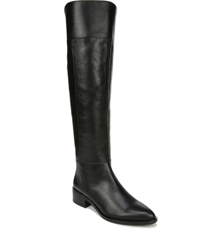 FRANCO SARTO Daya Knee High Boot, Main, color, BLACK LEATHER