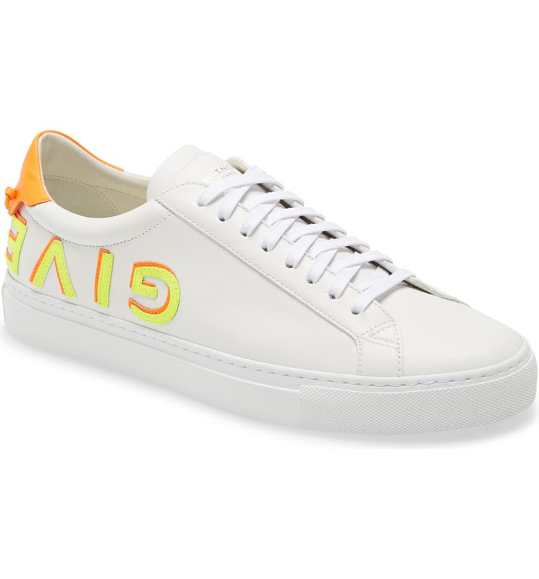 GIVENCHY Urban Street Upside Down Sneaker, Main, color, WHITE/ ORANGE