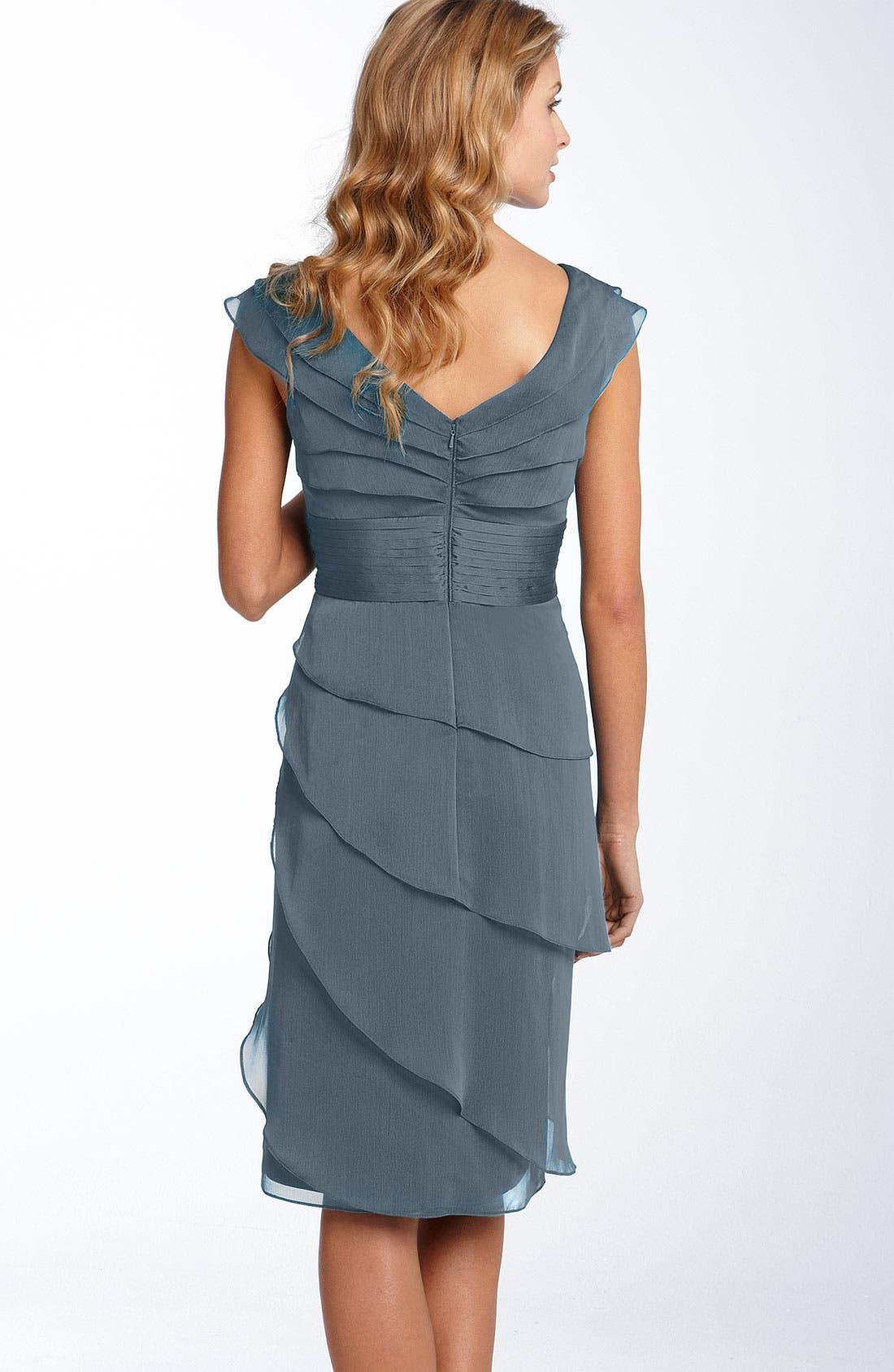 ,                             Tiered Chiffon Dress,                             Alternate thumbnail 37, color,                             456