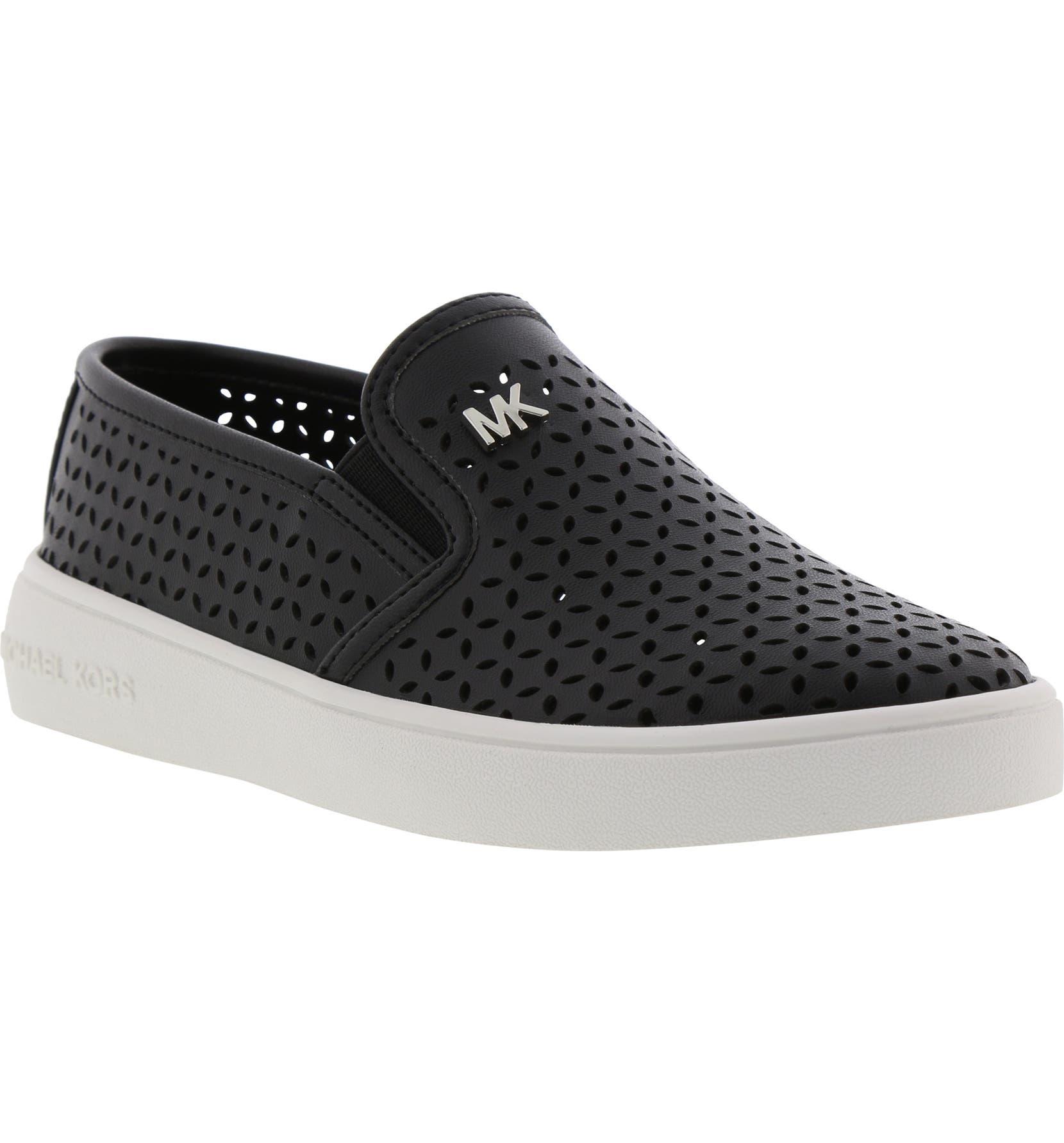 611c049d MICHAEL Michael Kors Jem Olivia Perforated Slip-On Sneaker (Walker,  Toddler, Little Kid & Big Kid) | Nordstrom