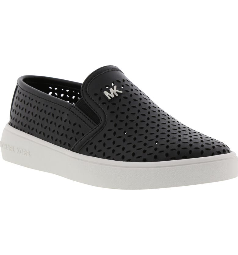 MICHAEL MICHAEL KORS Jem Olivia Perforated Slip-On Sneaker, Main, color, BLACK