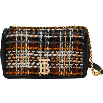 Burberry Small Lola Woven Leather Bag - Black