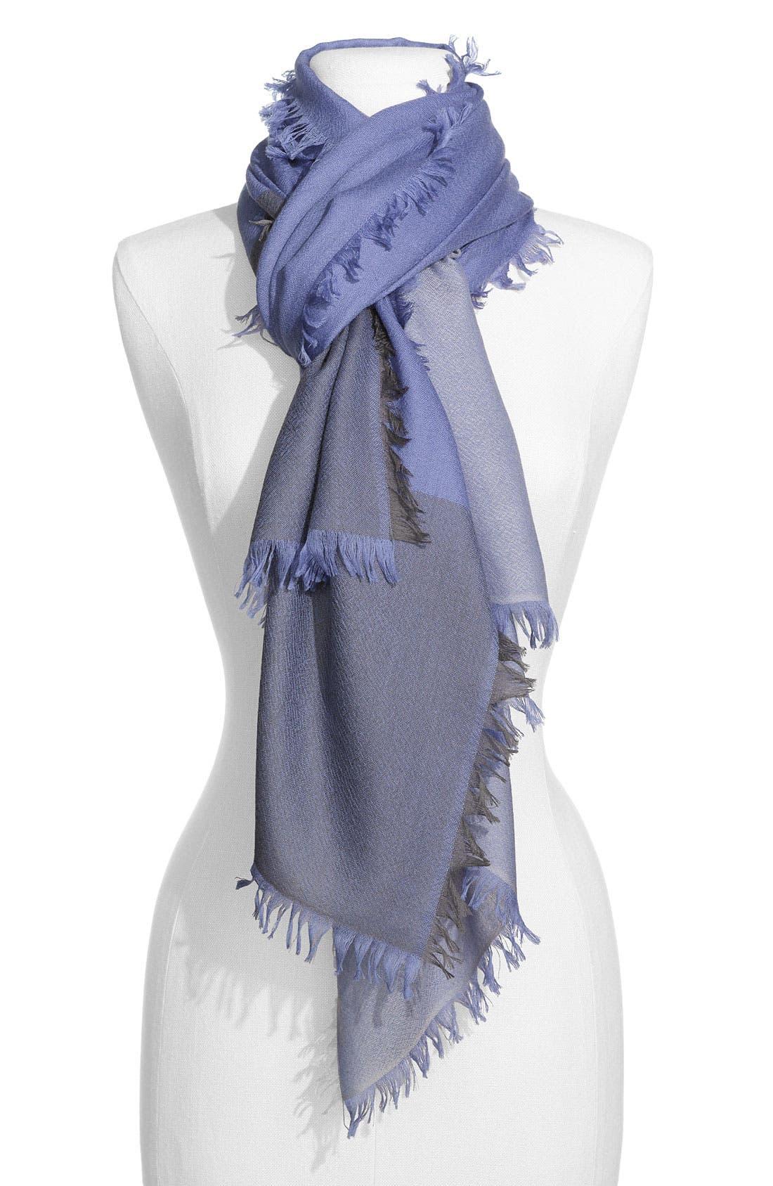 ,                             'Eyelash' Colorblock Cashmere Wrap,                             Main thumbnail 40, color,                             404