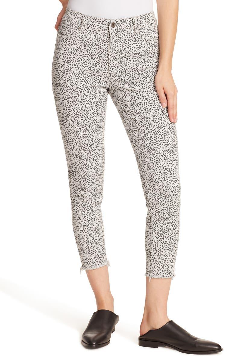 ELLA MOSS High Waist Ankle Skinny Jeans, Main, color, SHORE PEBBLES MICROCHIP COMBO