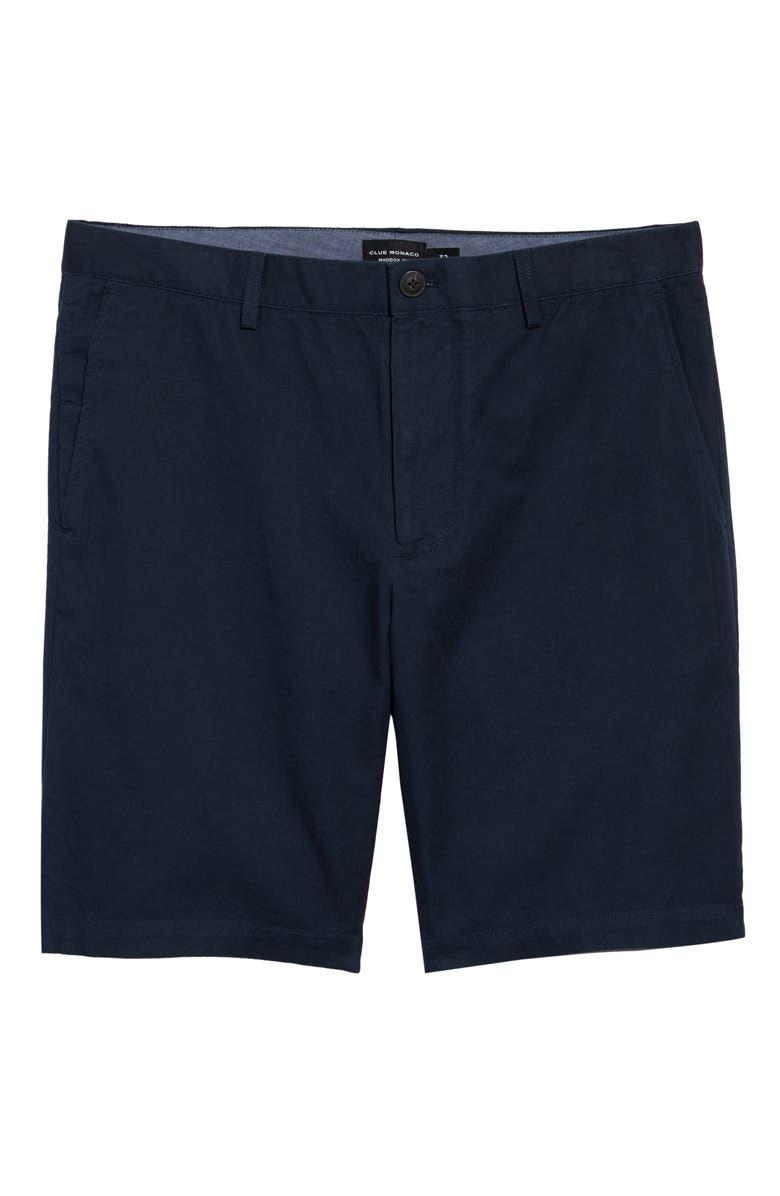 CLUB MONACO Maddox Slim Fit Shorts, Main, color, NAVY MULTI