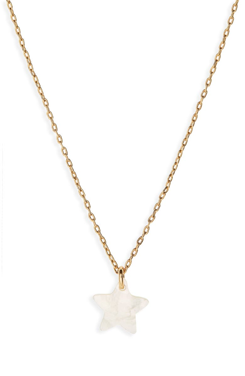 MADEWELL Mother of Pearl Star Necklace, Main, color, VINTAGE GOLD