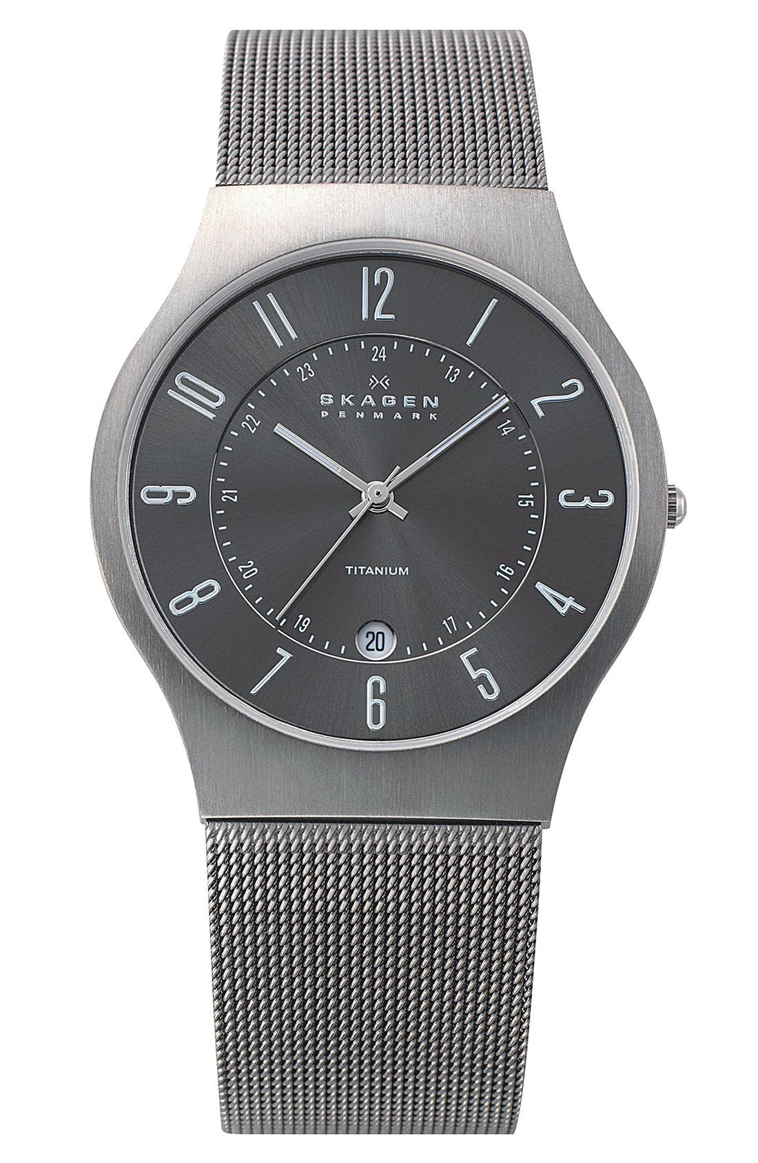 ,                             'Grenen' Titanium Case Watch,                             Main thumbnail 17, color,                             TIT