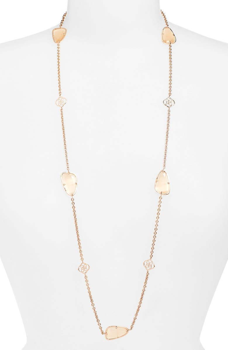 KENDRA SCOTT 'Kinley' Long Station Necklace, Main, color, 446