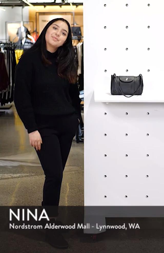 Le Pliage - Cuir Crossbody Bag, sales video thumbnail