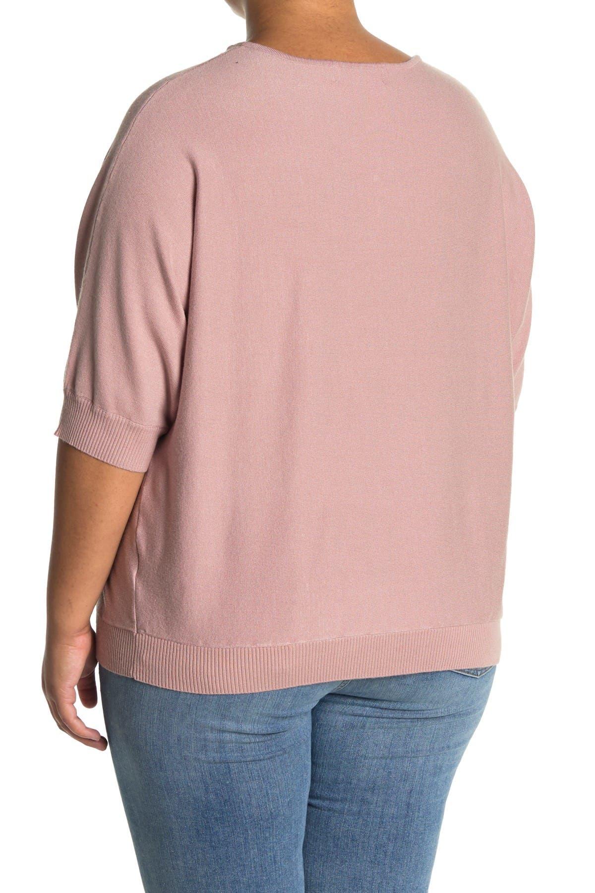 Image of philosophy V-Neck 3/4 Length Sleeve Sweater