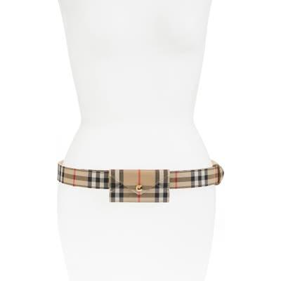 Burberry Vintage Check Belt Bag - Brown