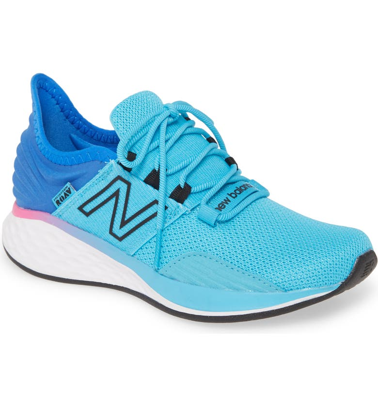NEW BALANCE Fresh Foam Roav Boundaries Knit Sneaker, Main, color, BAYSIDE/ VIVID COBALT/ PEONY