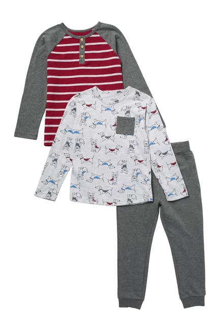 Image of Little Me Dog Print 3-Piece Play Set