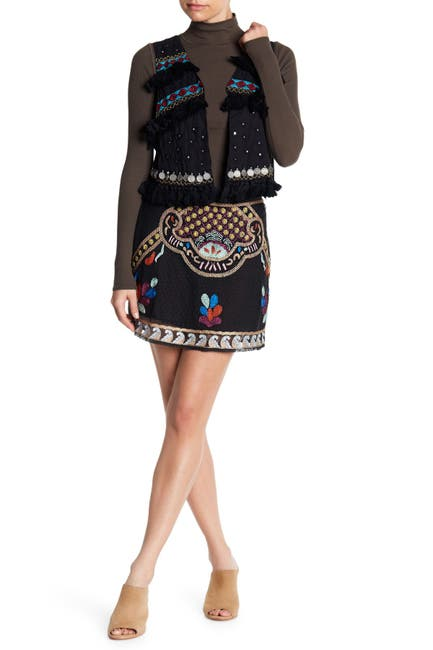 Image of RAGA Cleo Embroidered Skirt
