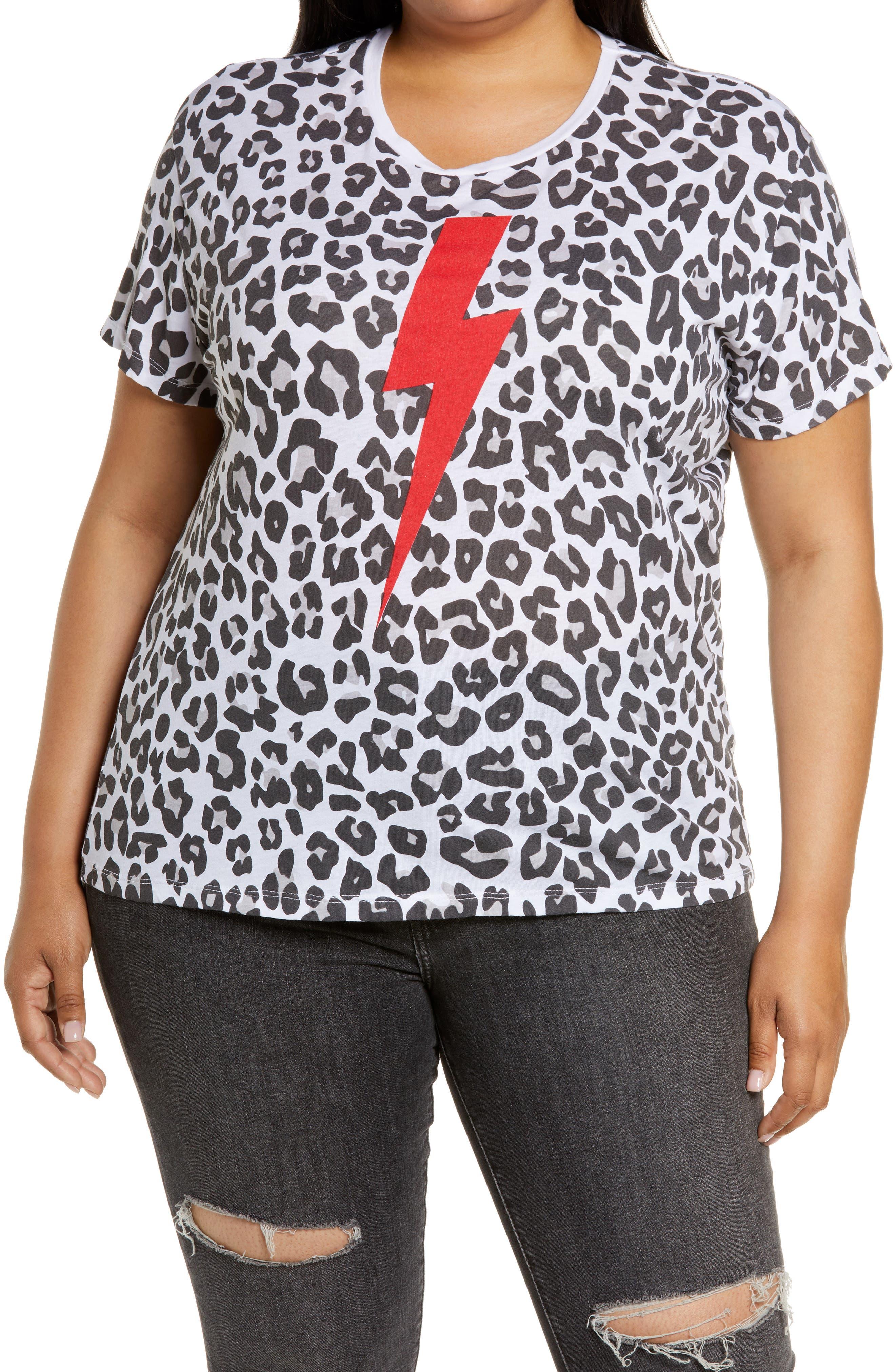 Leopard Lightening Bolt T-Shirt