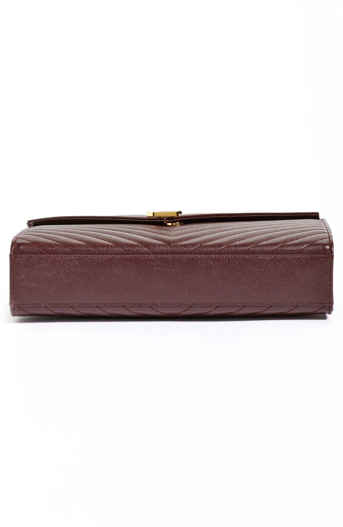 ,                             'Large Monogram' Grained Leather Shoulder Bag,                             Alternate thumbnail 35, color,                             606