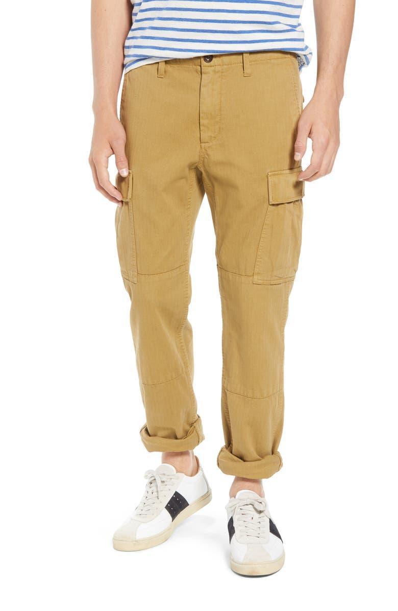841866a4fd J.Crew 484 Slim Fit Garment Dye Herringbone Cargo Pants | Nordstrom