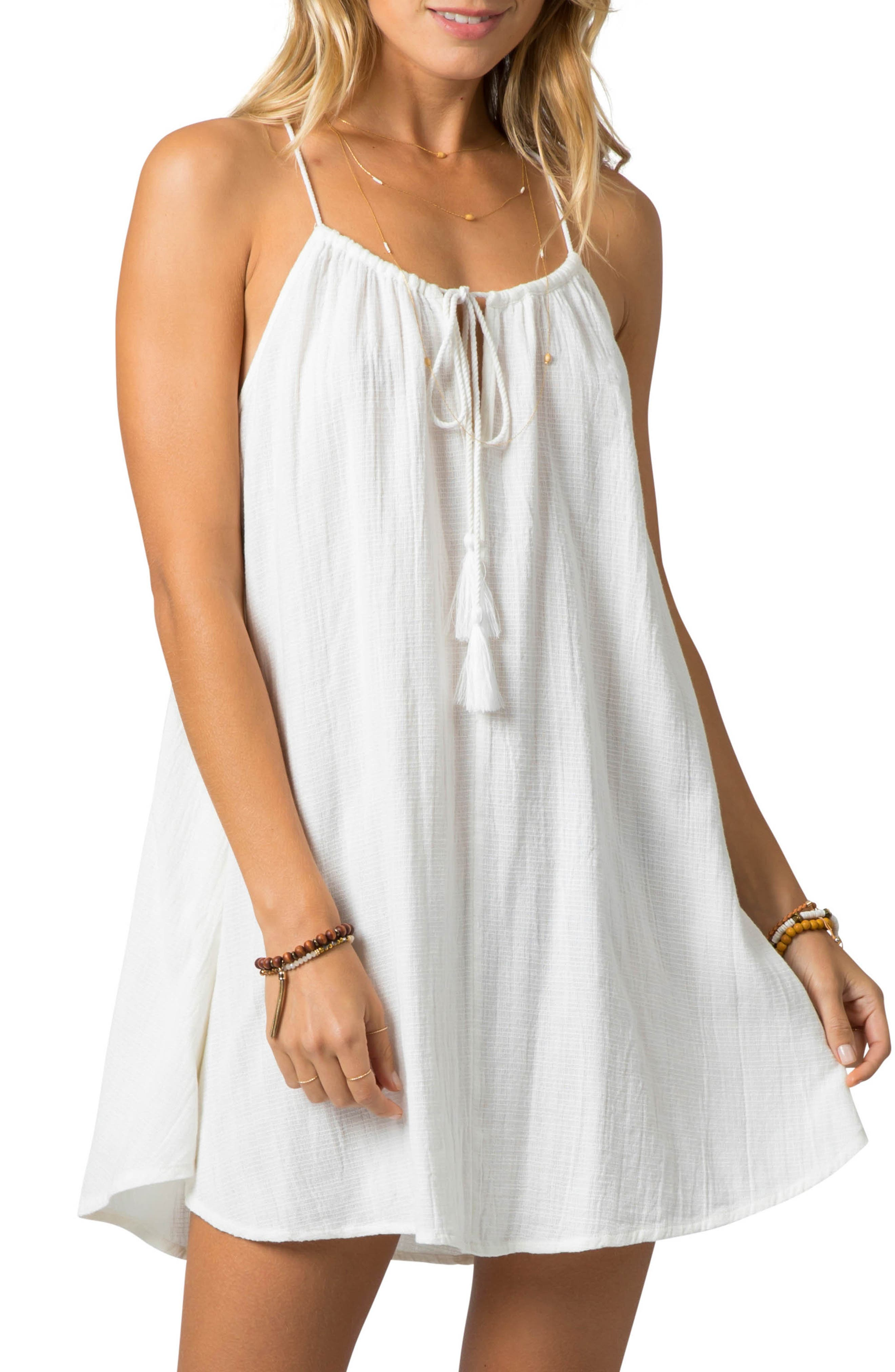 Rip Curl Classic Surf Cover-Up Minidress, Ivory