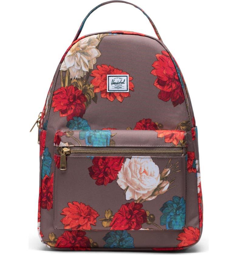 HERSCHEL SUPPLY CO. Nova Mid Volume Backpack, Main, color, VINTAGE FLORAL PINE BARK