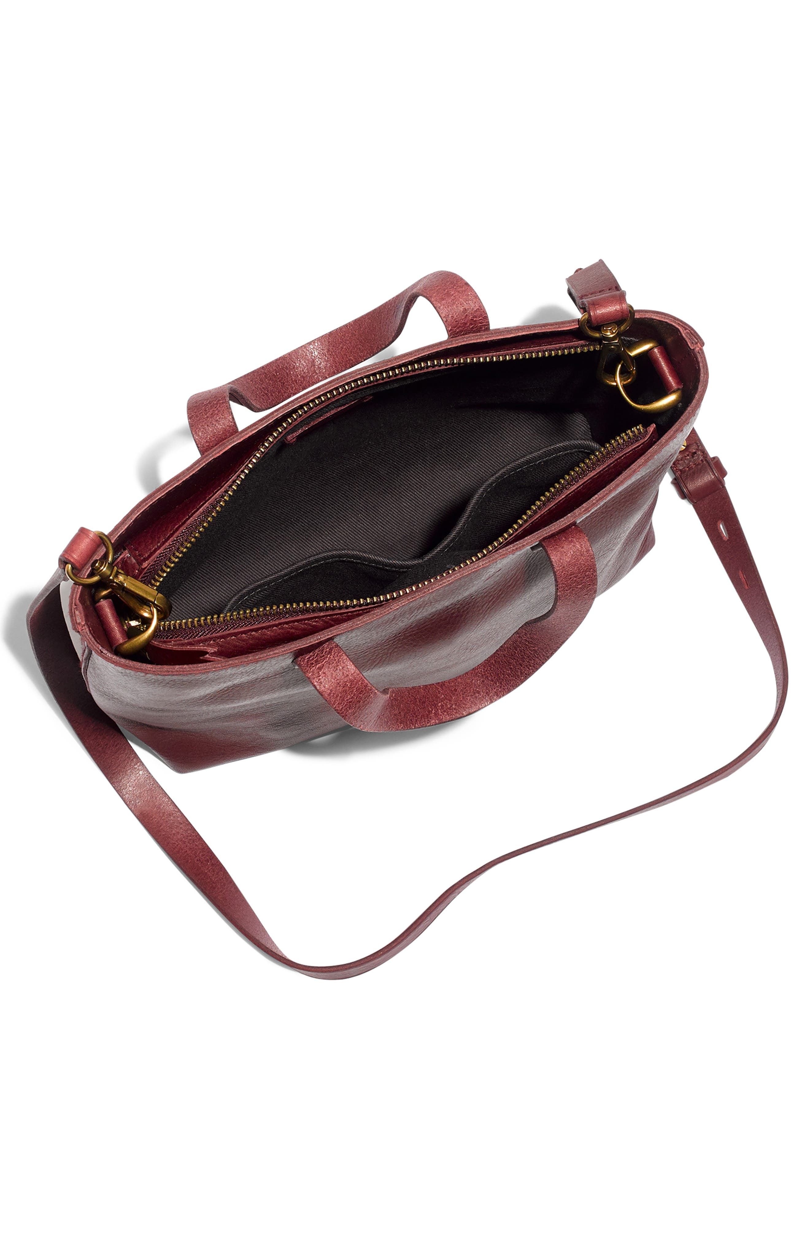 ,                             Small Transport Leather Crossbody Tote,                             Alternate thumbnail 29, color,                             930