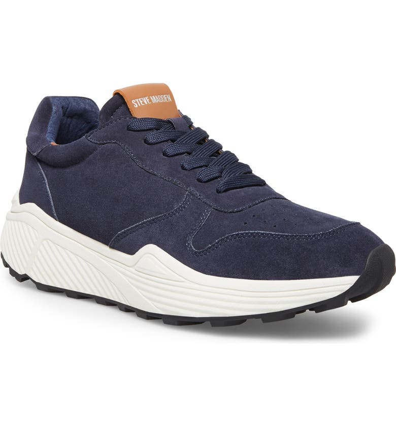 STEVE MADDEN Sardan Sneaker, Main, color, NAVY SUEDE