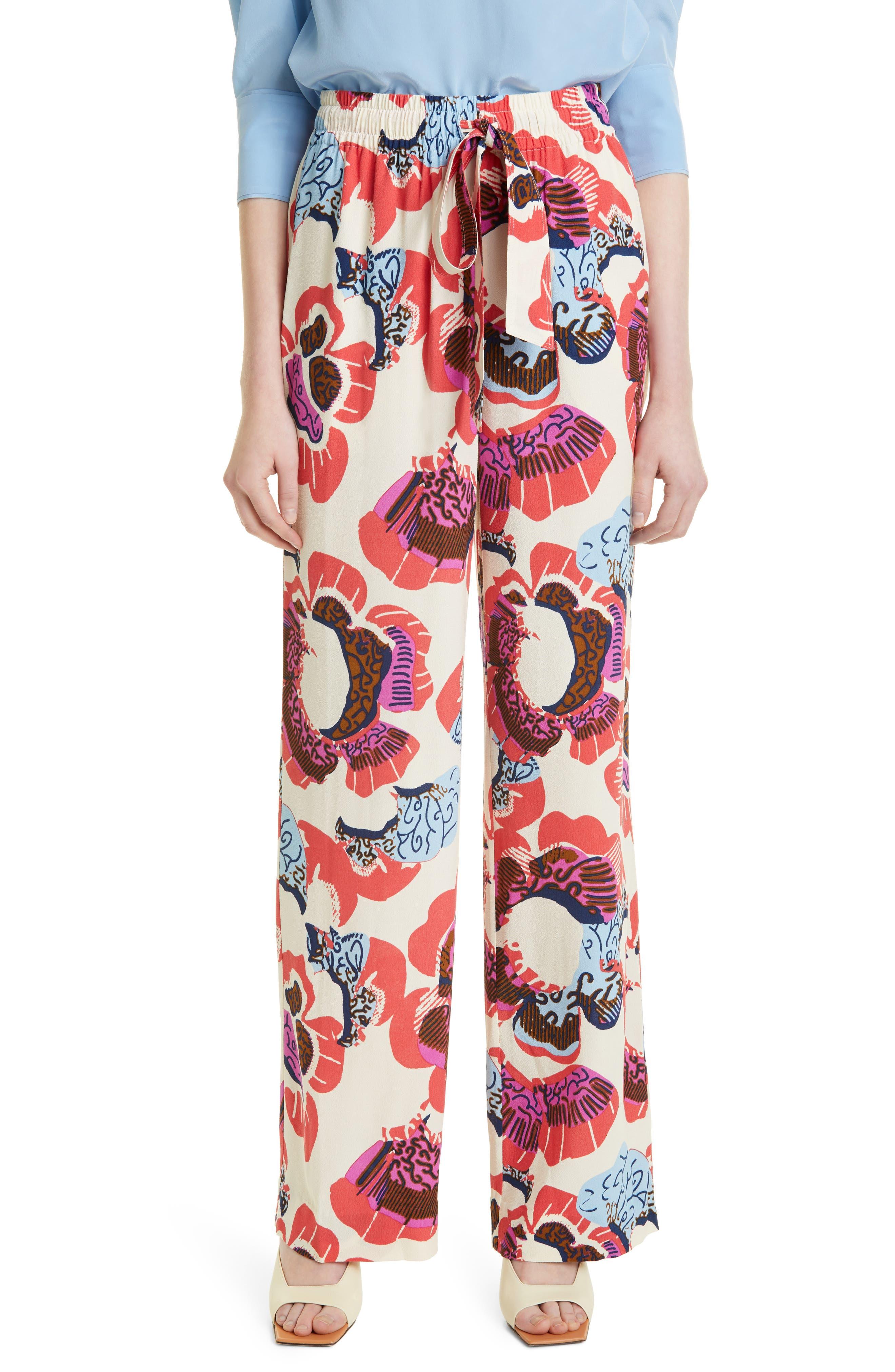 Denise Floral Drawstring Pants