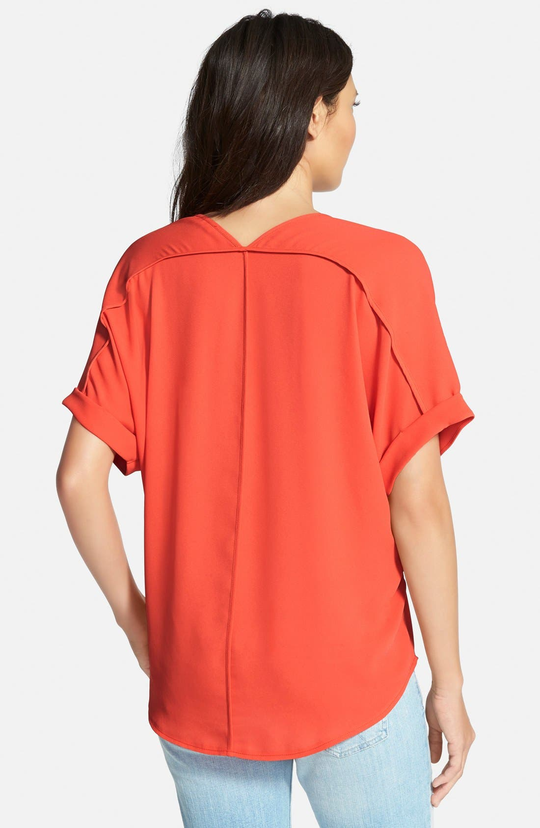 ,                             Lush Cuff Sleeve Woven Tee,                             Alternate thumbnail 148, color,                             602