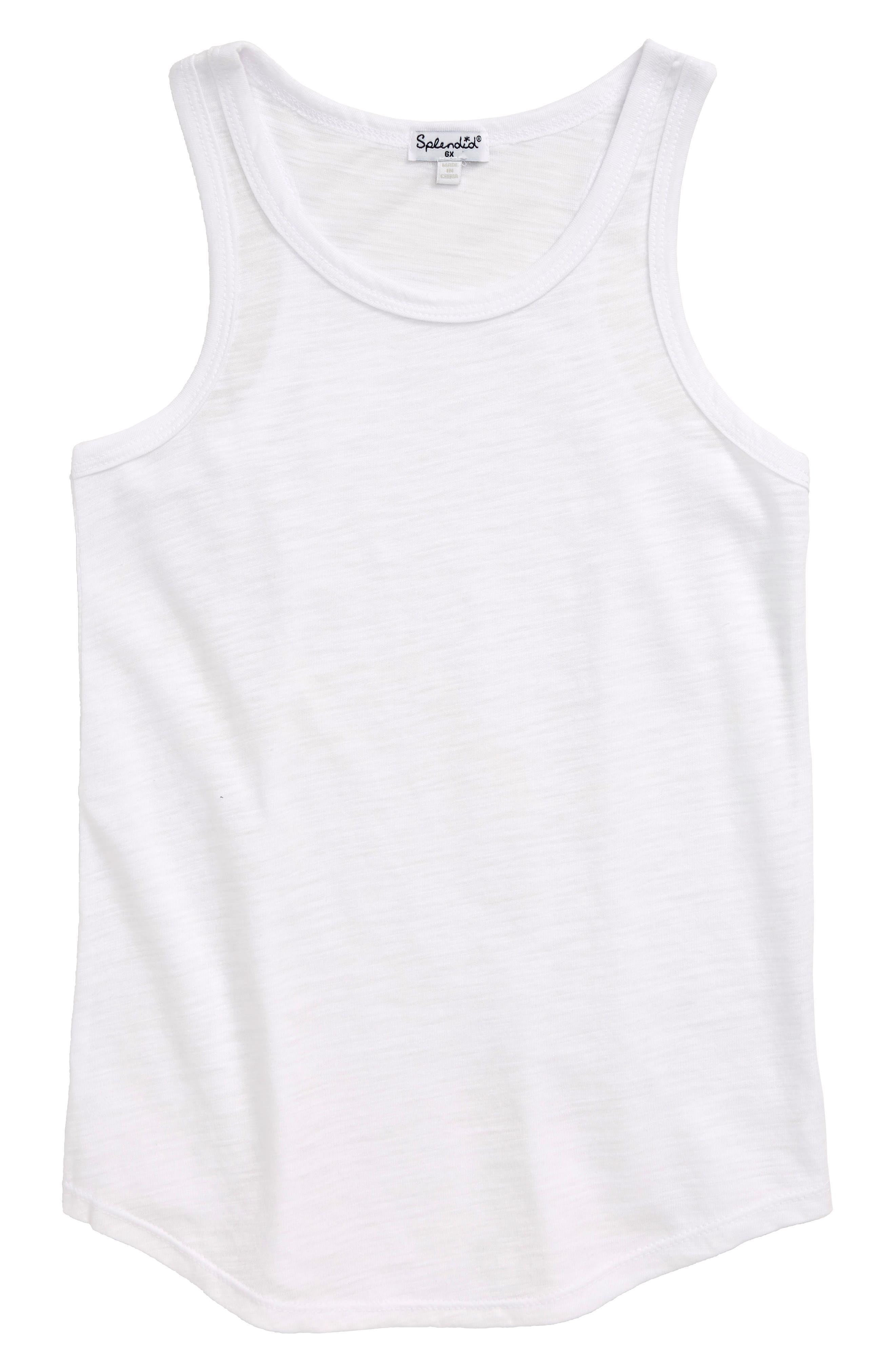 Toddler Girls Splendid Slub Tank Size 4T  White