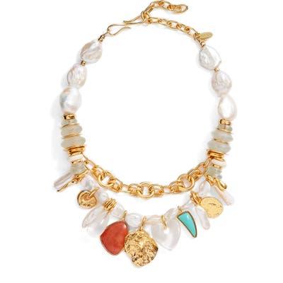Lizzie Fortunato Seascape Frontal Necklace